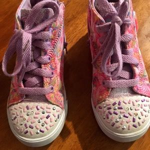 light Up Sketchers Sprinkle Toes sneakers